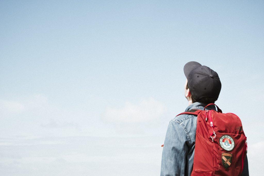 Boy looking ahead